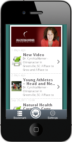Dr Cynthia Horner Iphone and Android app